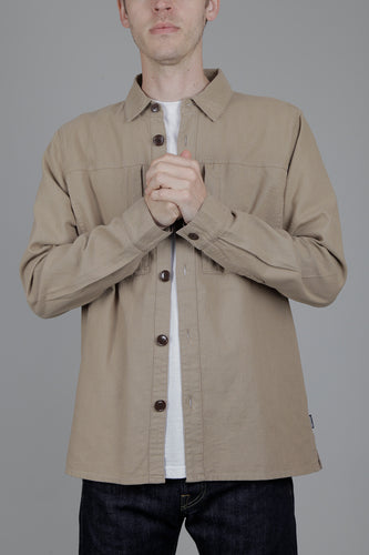 Barbour Kilda Overshirt (Stone) Model