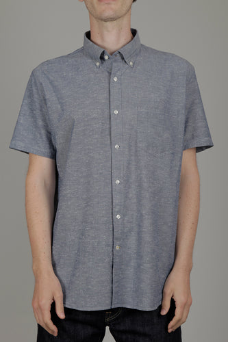 Barbour Portobello Short Sleeved Shirt (Indigo) Front