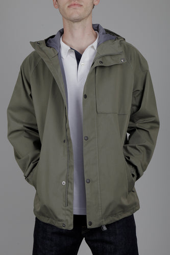 Barbour Reginald Jacket (Dusty Olive) Model