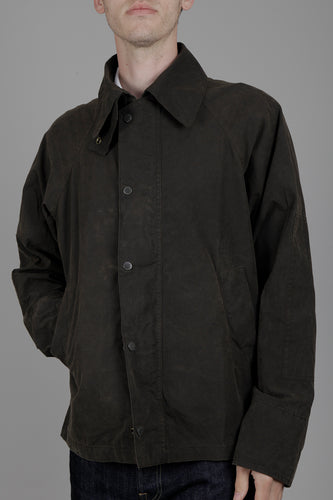 Barbour x Engineered Garments Washed Graham Casual Jacket (Olive) Model