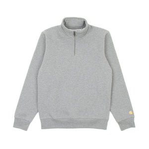 Carhartt Chase Highneck Sweat (Dark Grey Heather & Gold)-1