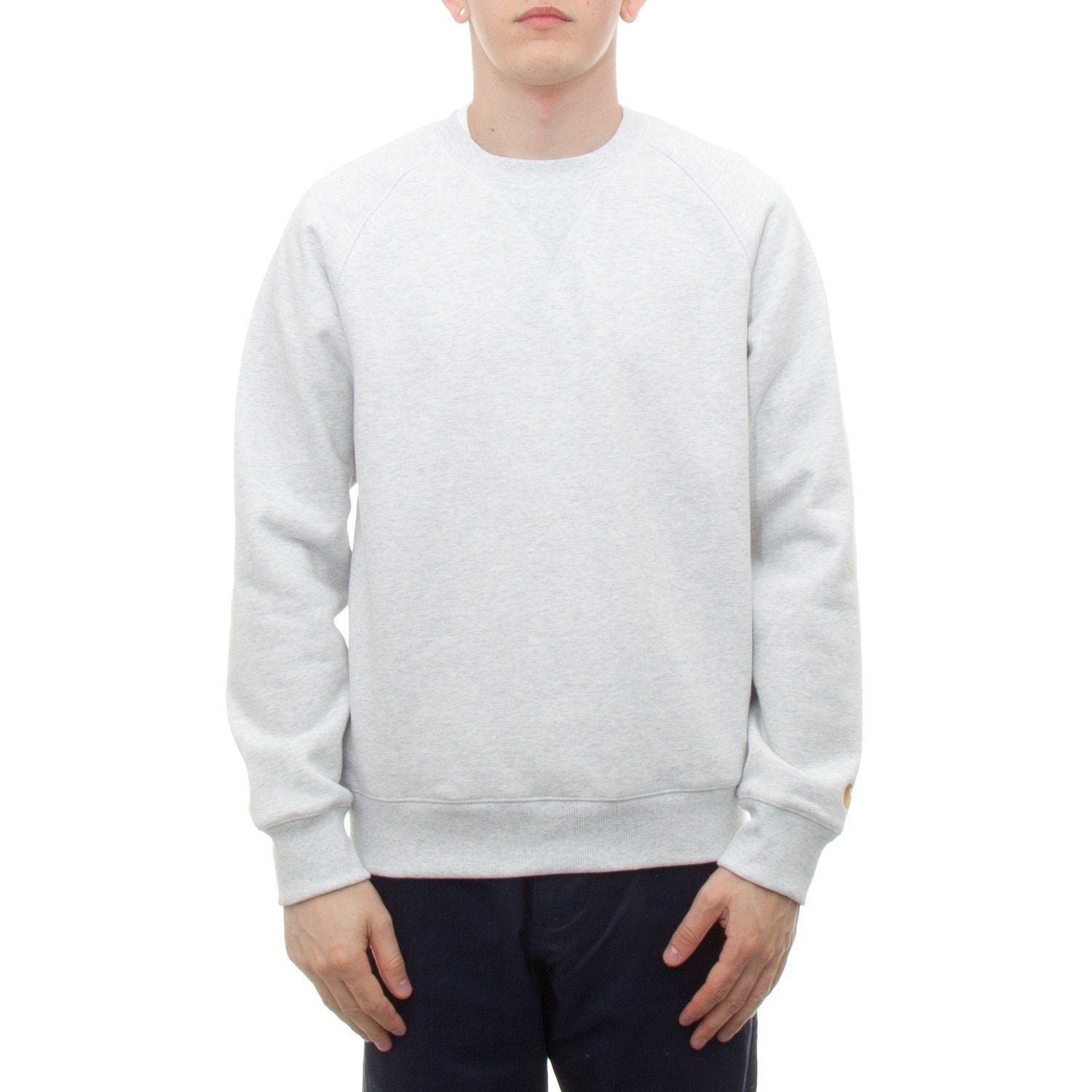 Carhartt Chase Sweatshirt (Ash Heather & Gold) - Number Six 1