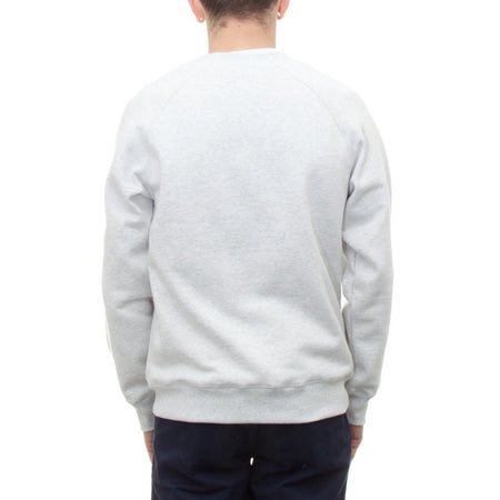 Carhartt Chase Sweatshirt (Ash Heather & Gold) - Number Six 2