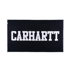 Carhartt College Script Towel (Frotté Dark Navy & White)-1
