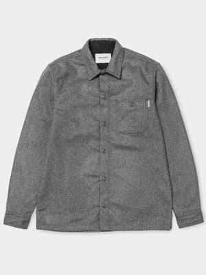 Carhartt Long Sleeve Stover Pocket Shirt (Dark Grey Heather)