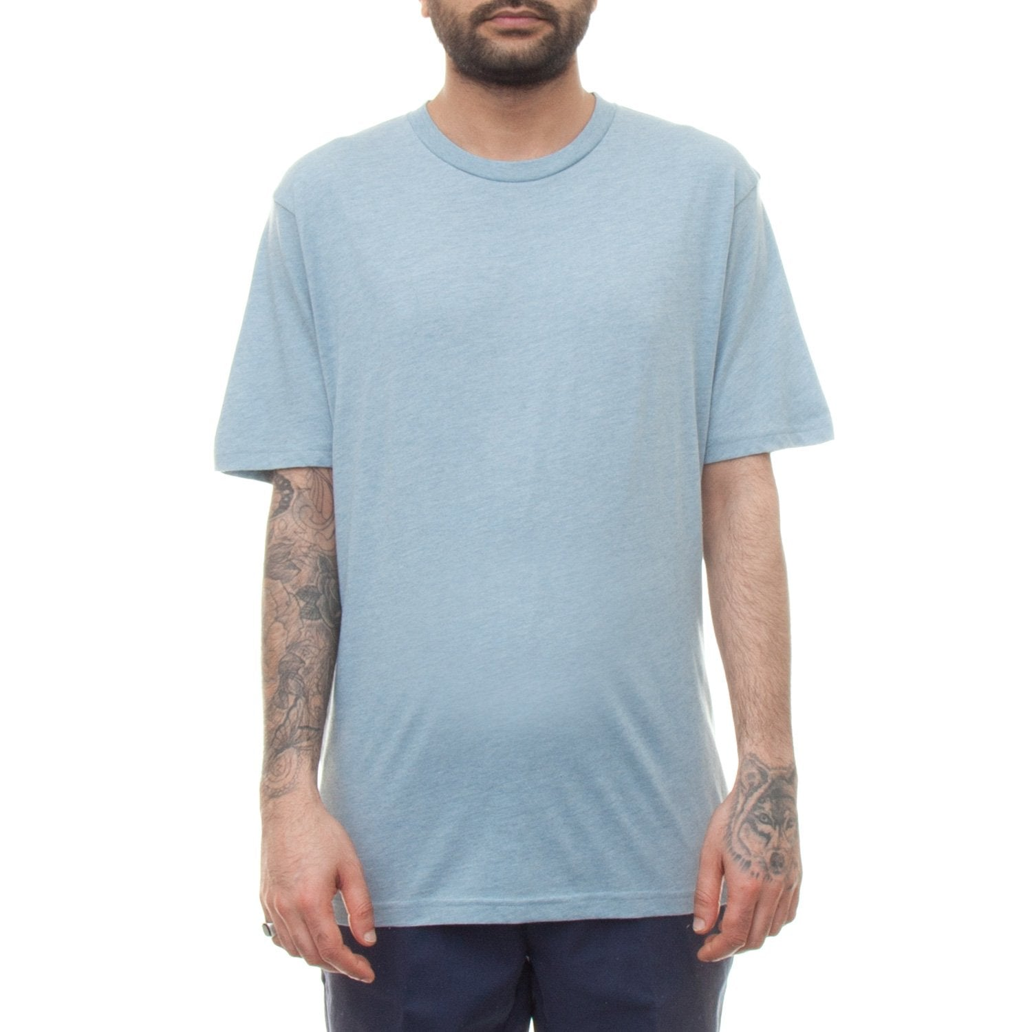 Carhartt S/S Holbrook LT T-Shirt (Dusty Blue Heather)-4
