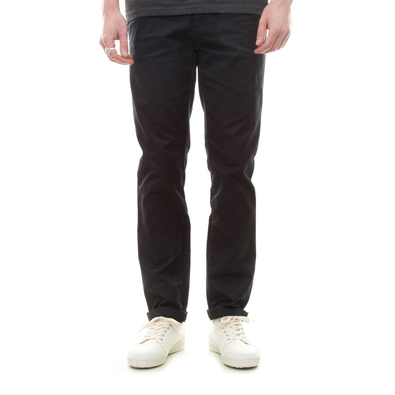 Carhartt Sid Pant (Black Rinsed) - Number Six 1