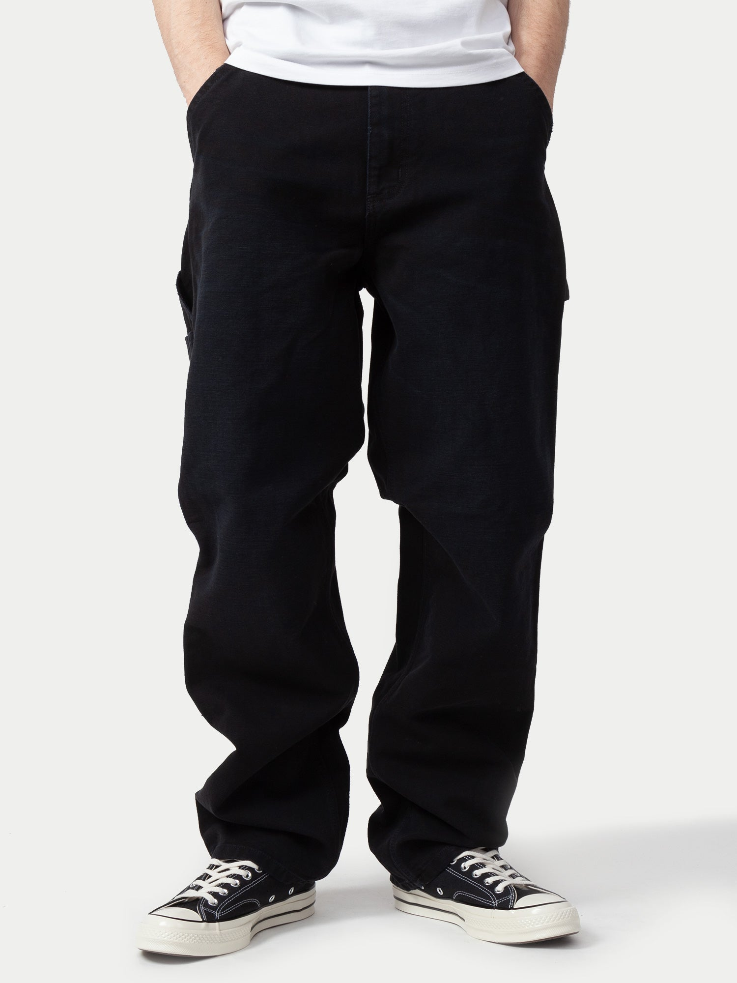 Carhartt Single Knee Pant (Black Aged Canvas) m1