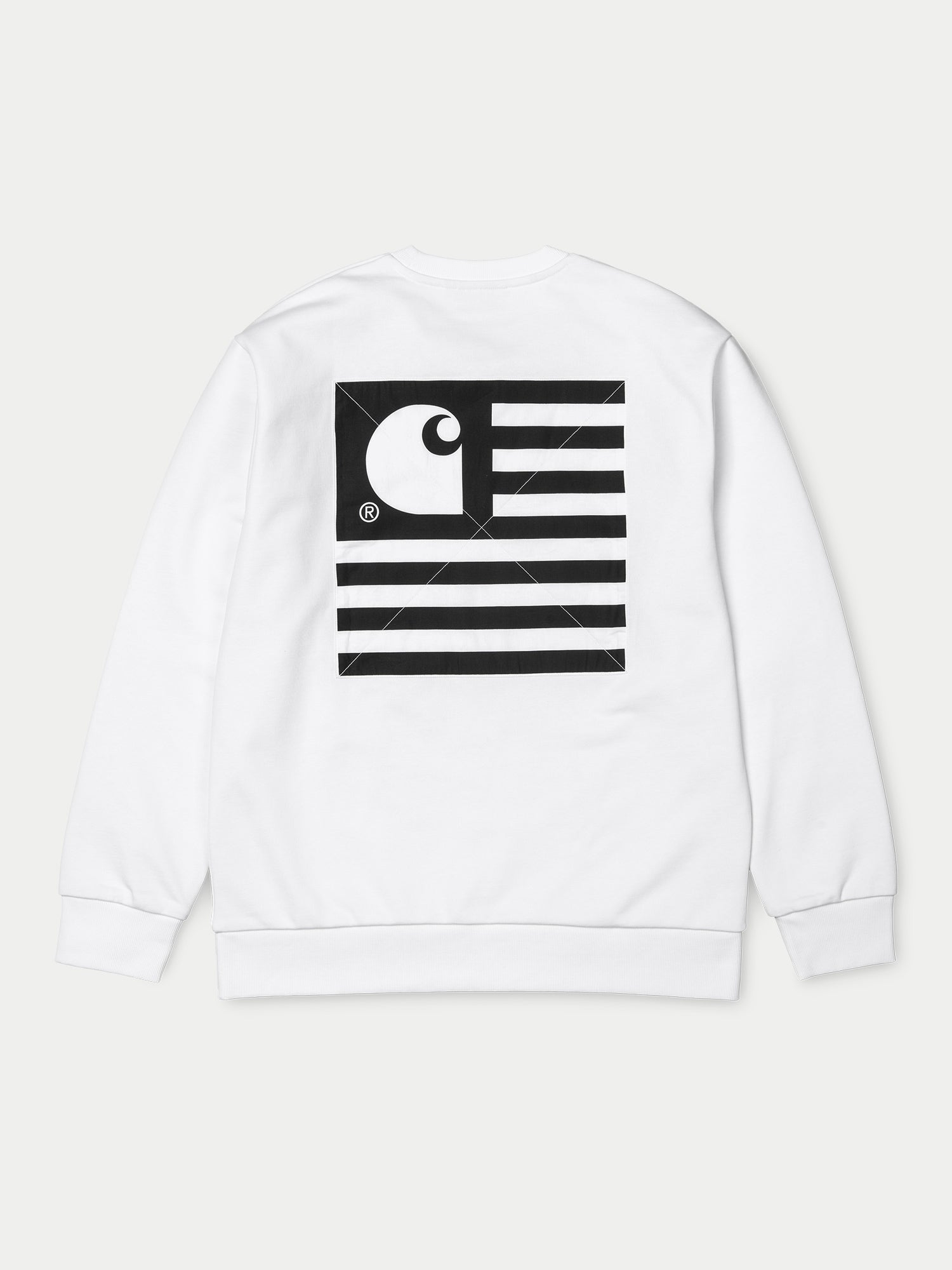 995c8a05 Carhartt State Patch Sweatshirt (White)