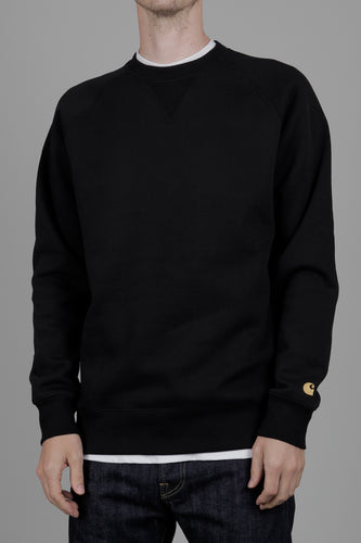 Carhartt WIP Chase Heavy Sweatshirt (Black & Gold) Front