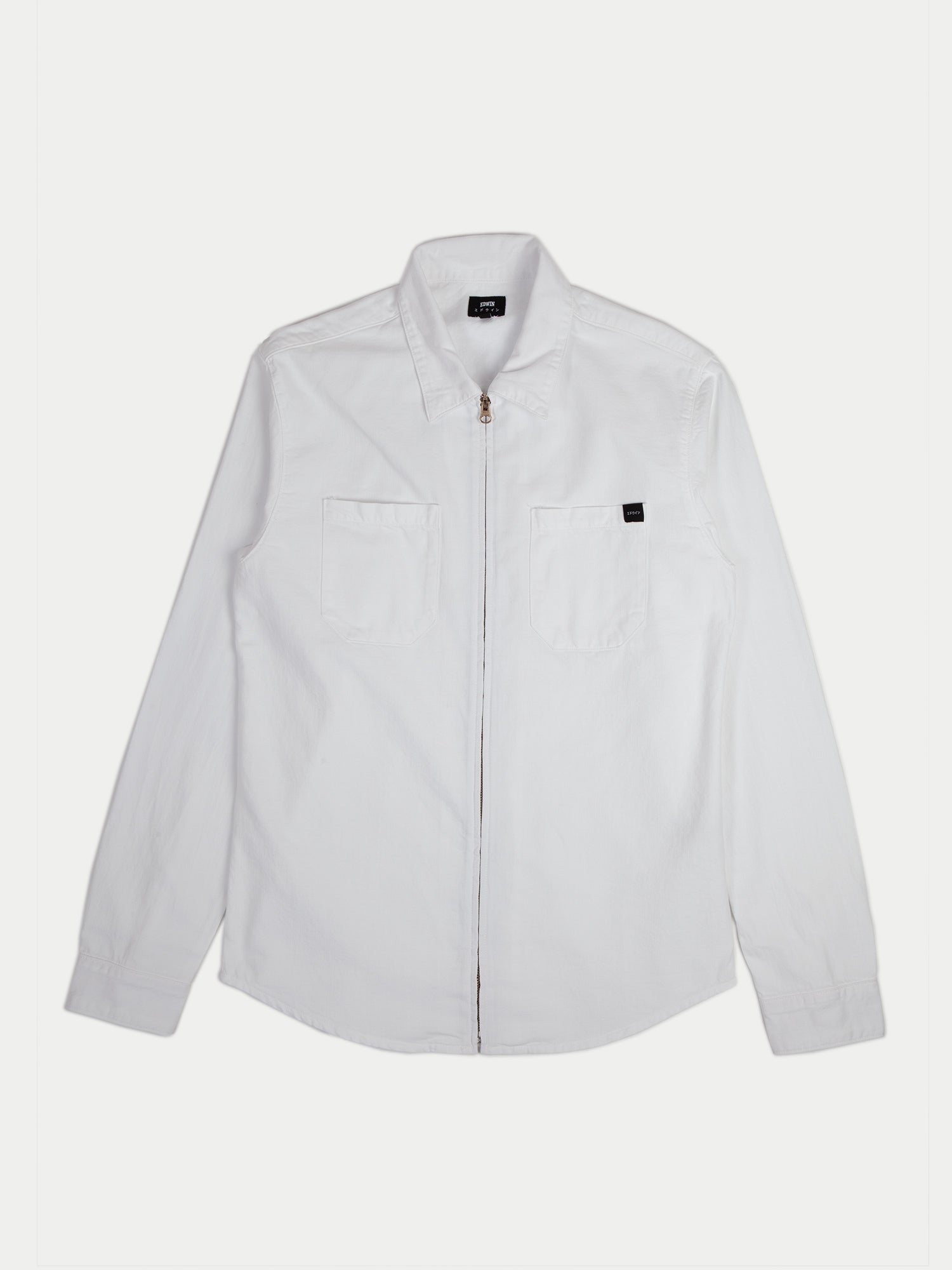 Edwin Demo Zip Overshirt (White Garment Dyed)