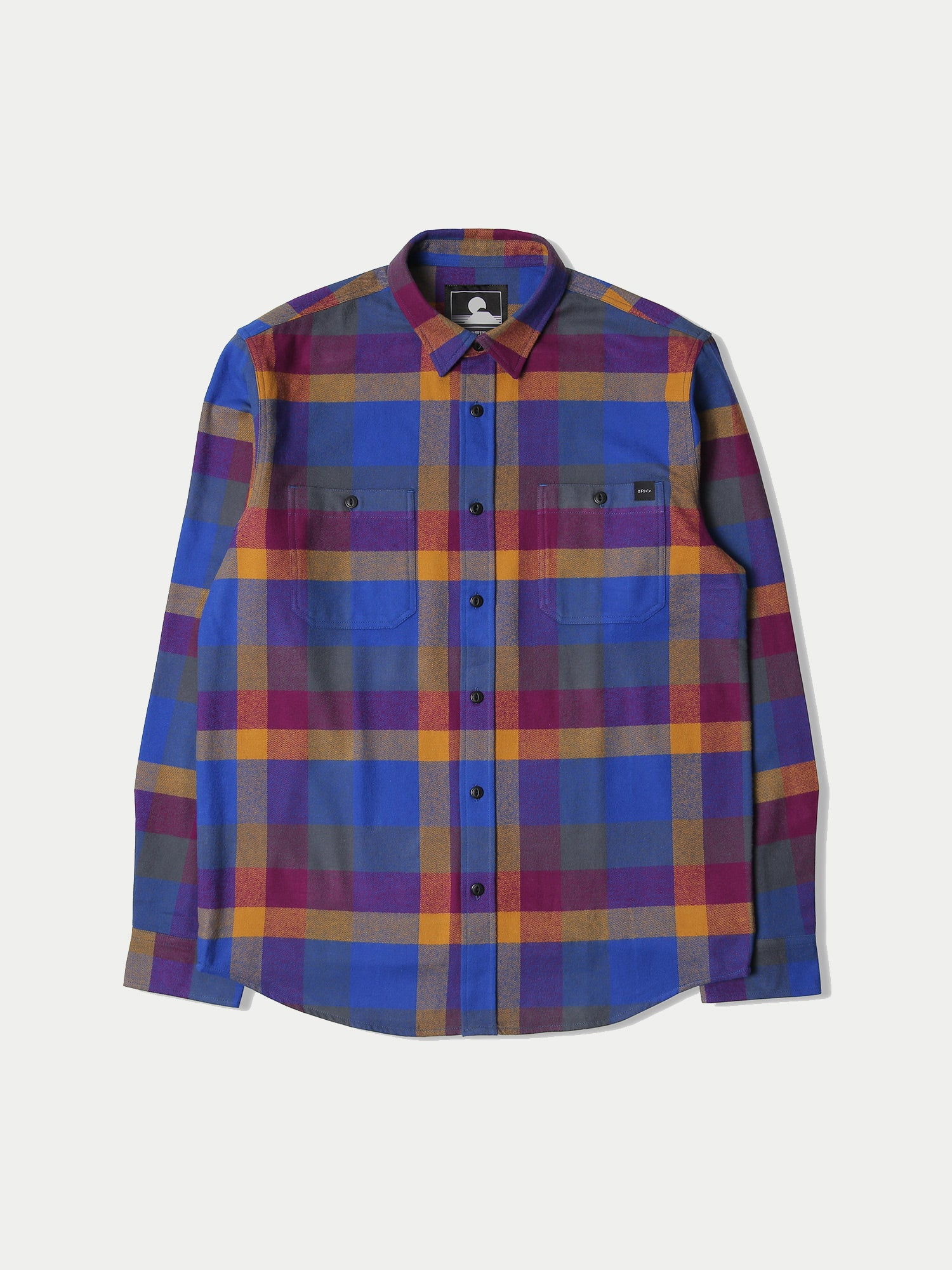 Edwin Labour Shirt (Dark Purple & Harvest Gold)22