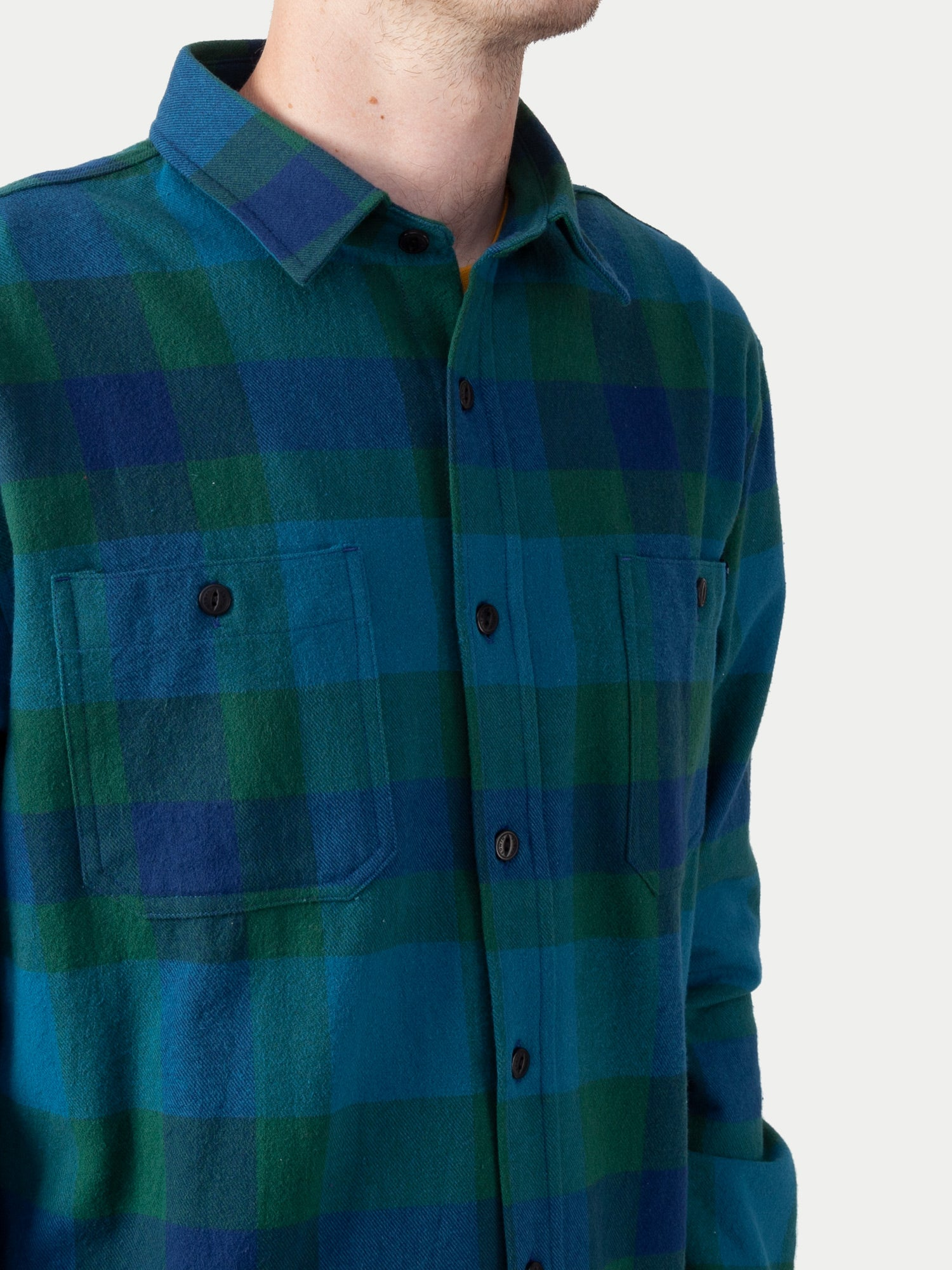 Edwin Labour Shirt (Dress Blue & Dark Green) 1