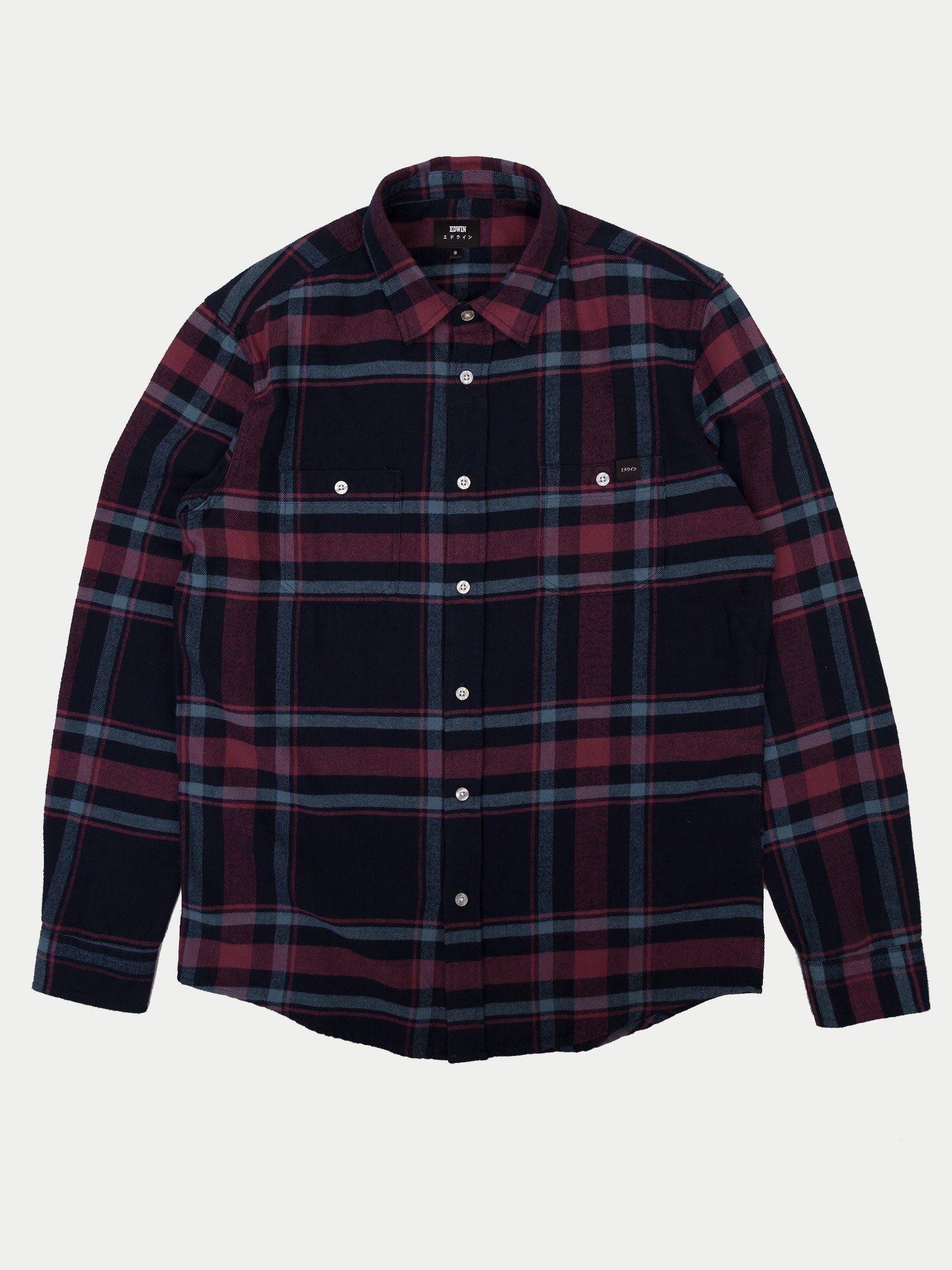 Edwin Labour Shirt (Oxblood Red)