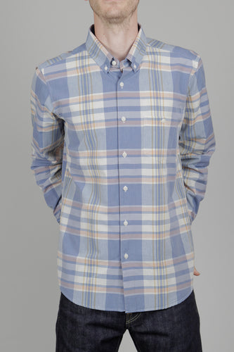 Far Afield x Madras Shirting Co. Long Sleeve Shirt (Salines Check) Front
