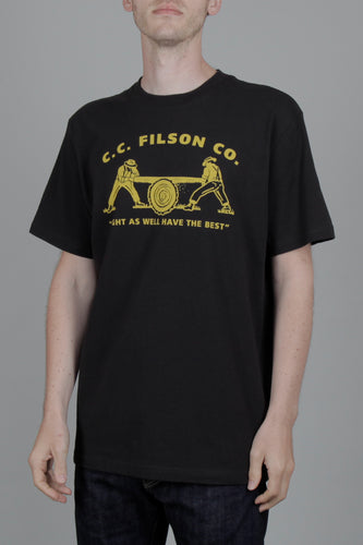 Filson Short Sleeve Outfitter Graphic T-shirt (Faded Black) Front