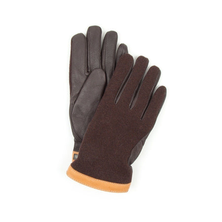 Hestra Deerskin Tricot Glove (Brown & Dark Brown)1