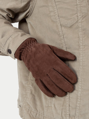 Hestra Nathan Gloves (Brown Suede) m1