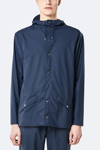 Rains Jacket (Navy Blue)Model