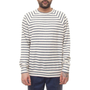 La Paz Cunha Sweatshirt (Blue and Ecru Stripes)-4