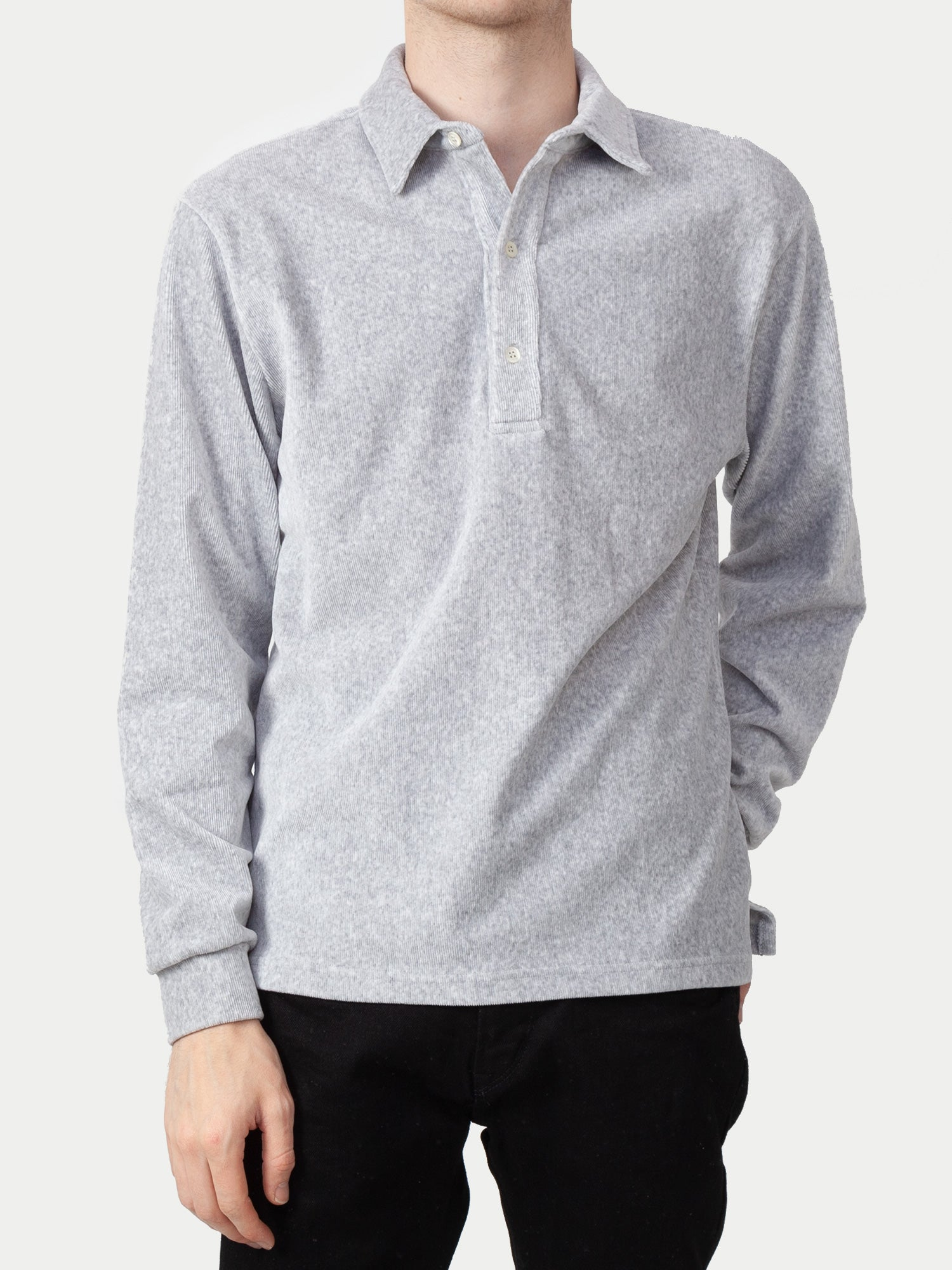 La Paz Mesquita Polo Shirt (Grey Ribbed Velour) 1