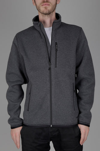 Filson Ridgeway Fleece Jacket (Charcoal Heather) Model