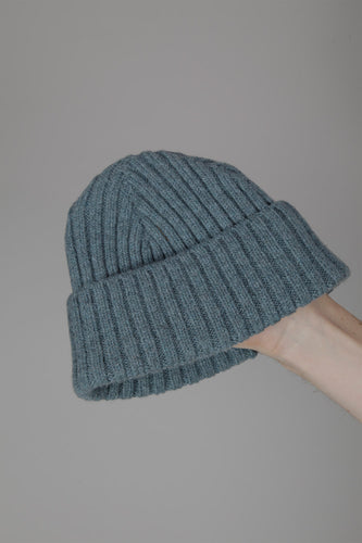 Half Dozen Super-Soft Lambswool Fisherman Beanie (Caspian Green)
