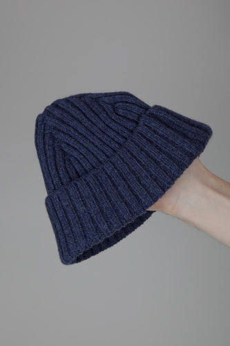 Half Dozen Super-Soft Lambswool Fisherman Beanie (Landscape Blue)