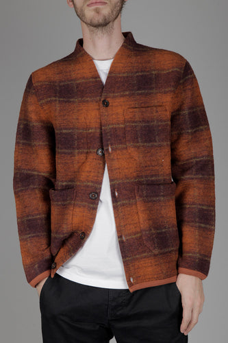 Universal Works Austin Wool Fleece (Orange)
