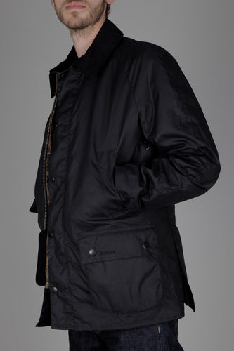 Barbour Ashby Waxed Jacket (Navy)