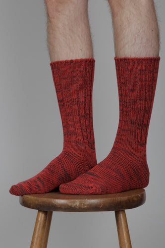 Anonymous Ism 5 Colour Mix Crew Socks (Red)