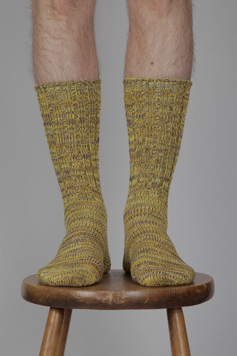 Anonymous Ism 5 Colour Mix Crew Socks (Yellow)