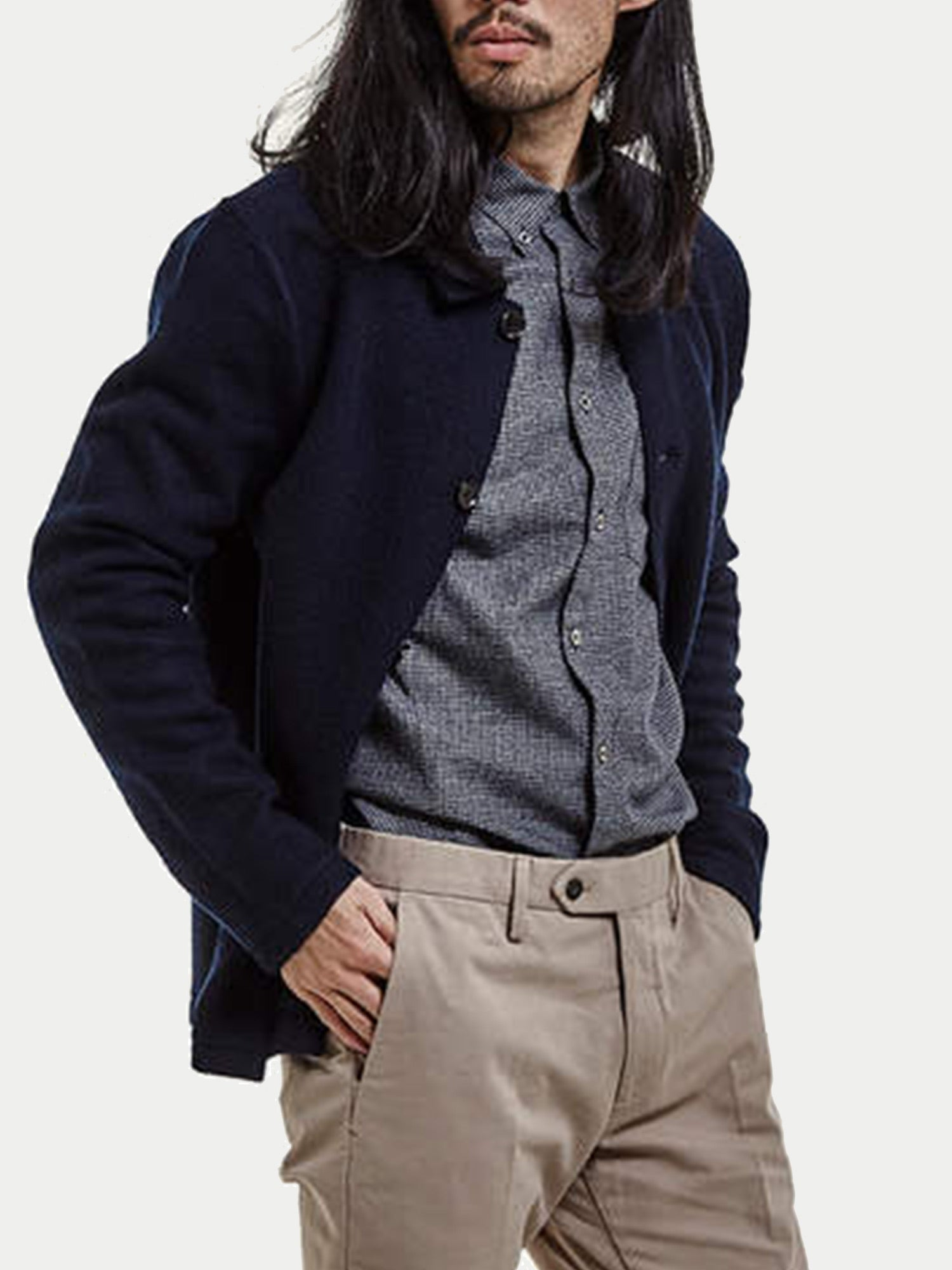 NN07 Boiled Wool Jacket (Navy)