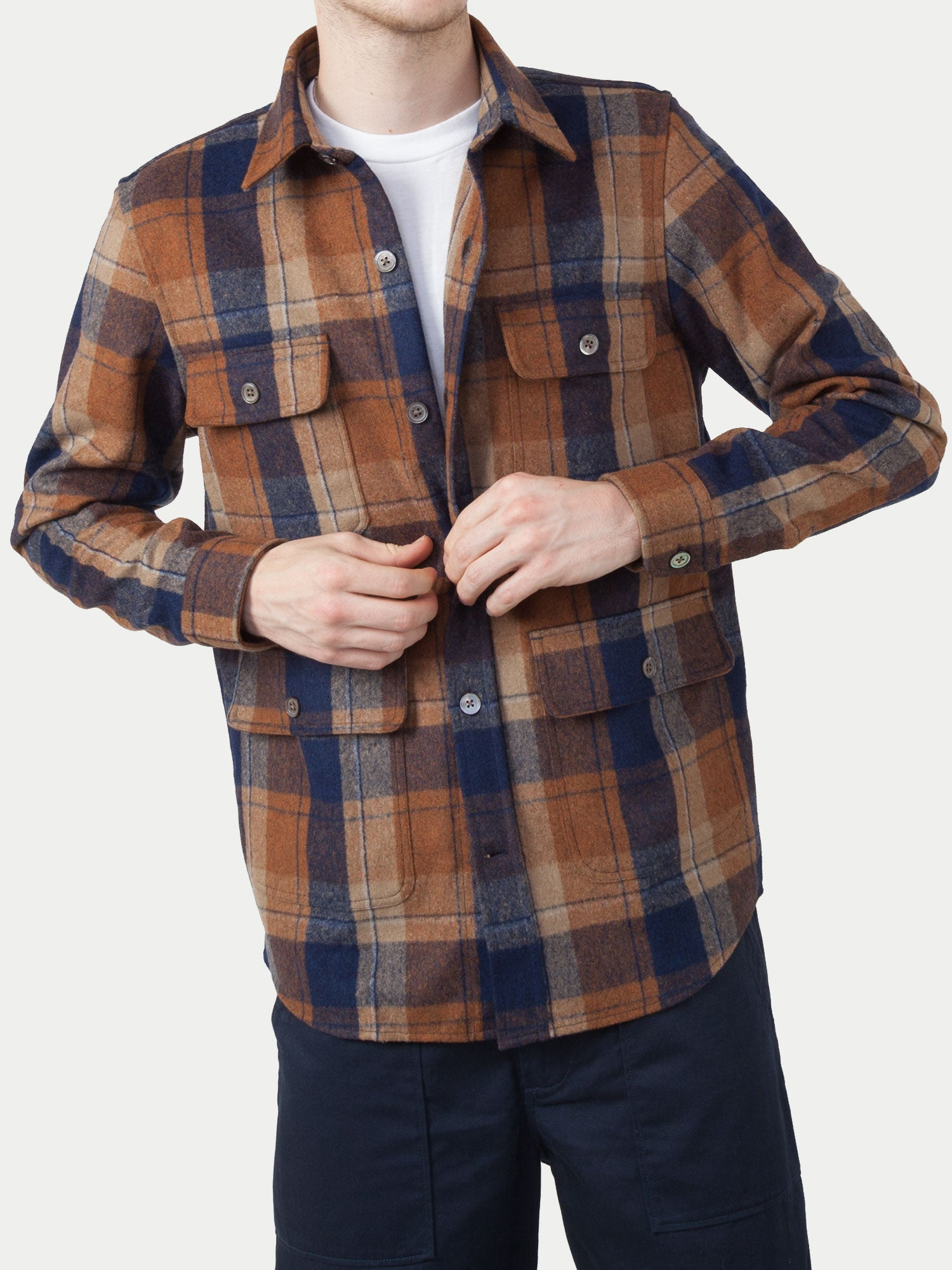 NN07 Eddard Overshirt (Brown Check)