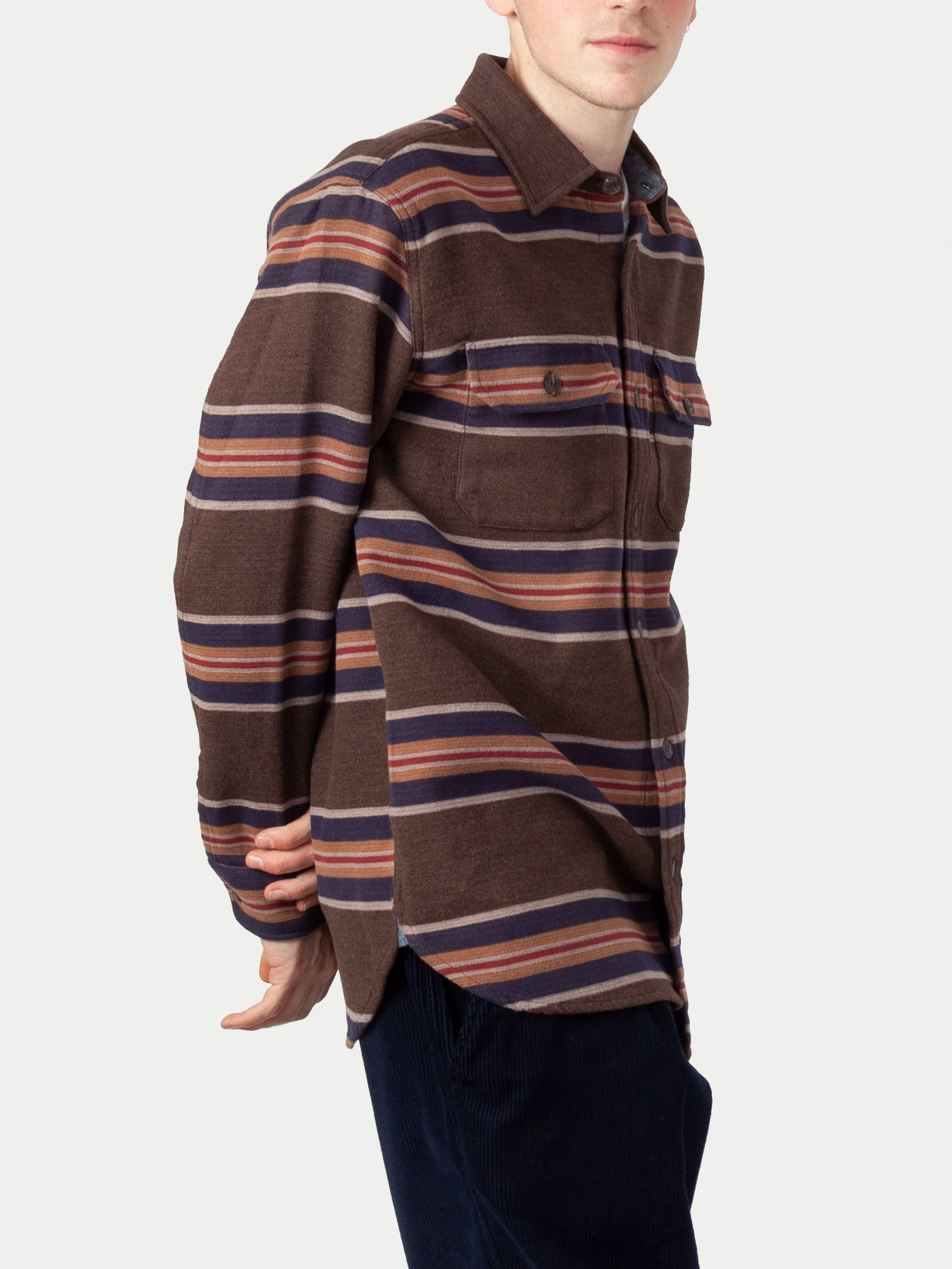 Pendleton Blanket Stripe Overshirt (San Miguel Brown Stripe)