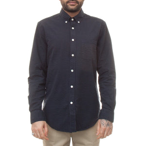 Portuguese Flannel Atlantico Shirt (Navy)-4