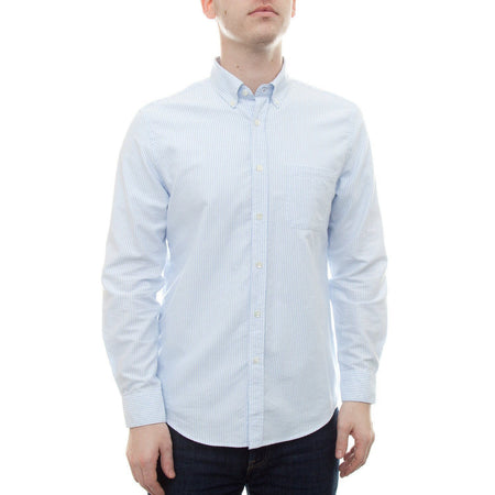 Portuguese Flannel Belavista Stripe Shirt (Light Blue)