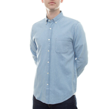 Portuguese Flannel Caue Shirt (Denim Blue)