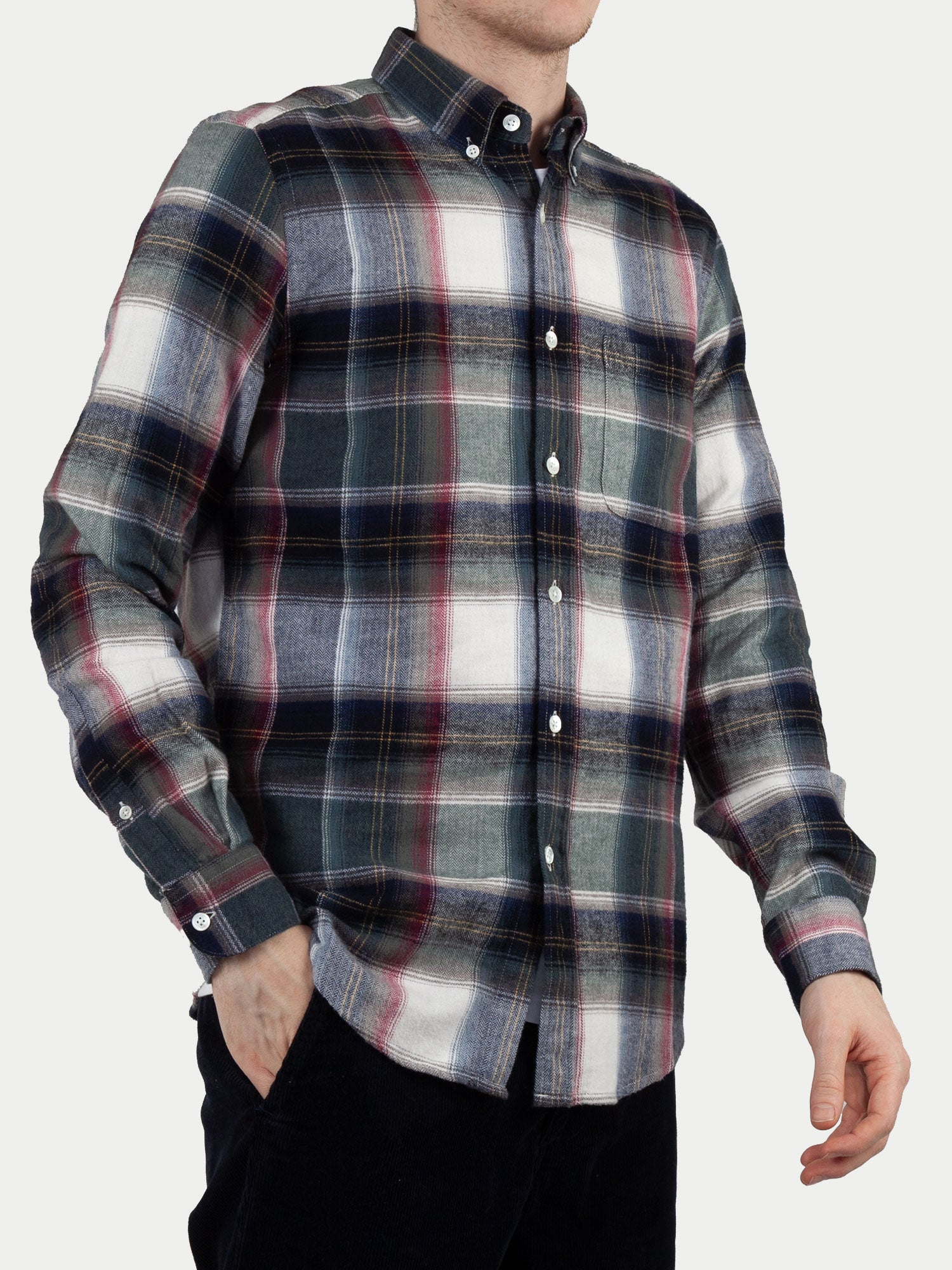 Portuguese Flannel Club Shirt (Blue, White & Red) m1