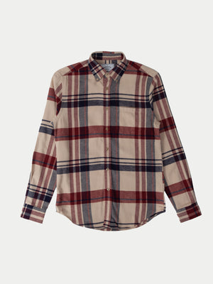 Portuguese Flannel Coachella Shirt (Red & Blue) 1