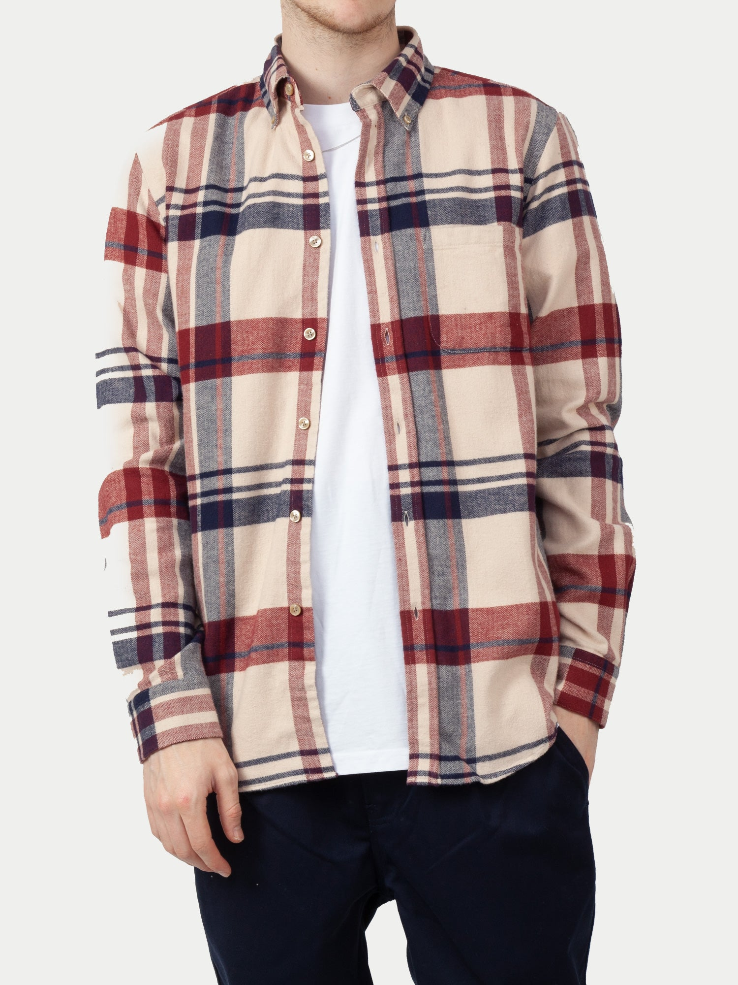 Portuguese Flannel Coachella Shirt (Red & Blue) m1