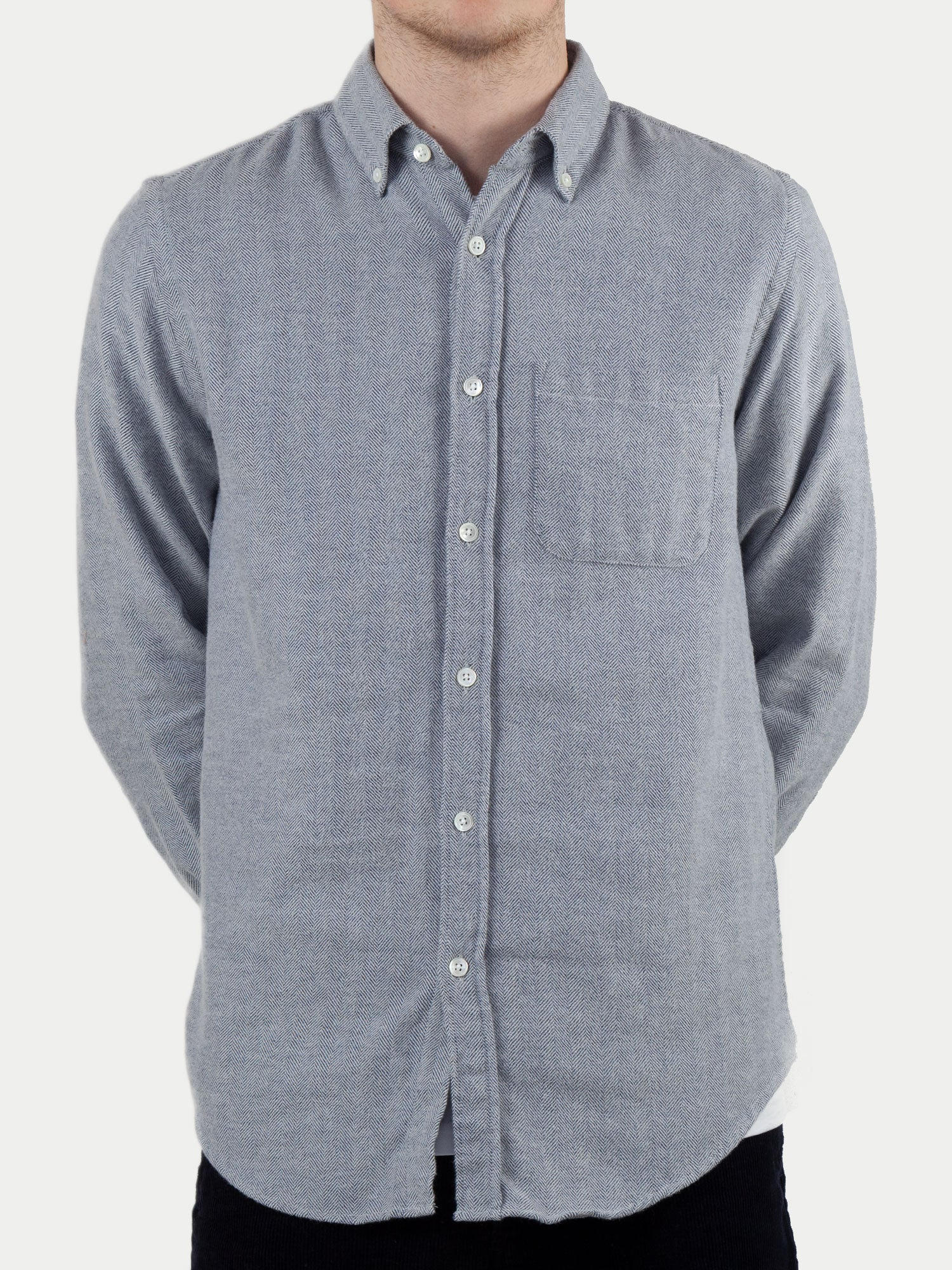 Portuguese Flannel Espiga Shirt (Light Blue) m1