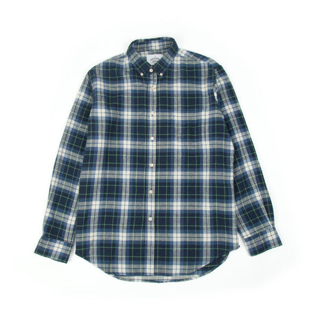 Portuguese Flannel Laboreiro Shirt (Blue, Green & White) 2