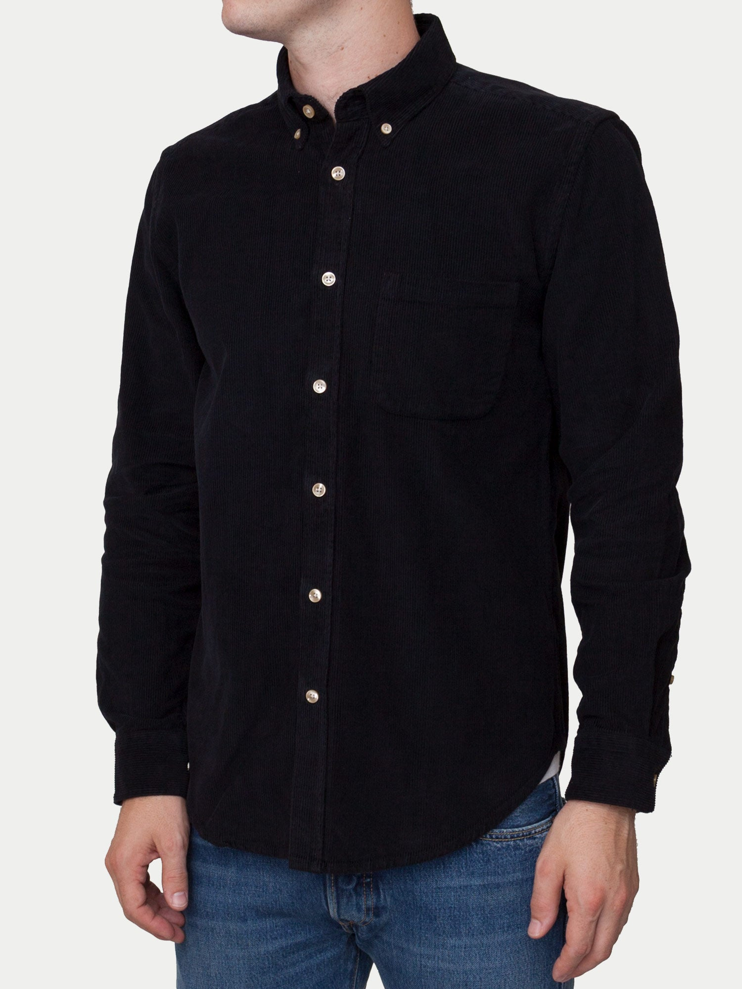 Portuguese Flannel Lobo Shirt (Black)