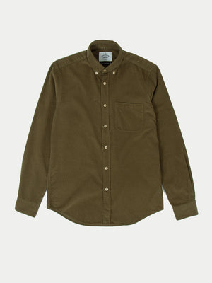 Portuguese Flannel Lobo Shirt (Olive)-1