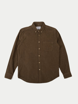 Portuguese Flannel Lobo Thick Cord Shirt (Olive)