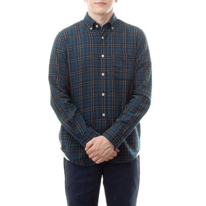 Portuguese Flannel Lusitania Shirt (Black, Green & Yellow) 1