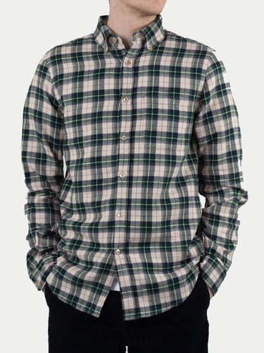 Portuguese Flannel Mentol Shirt (Green & White) m1