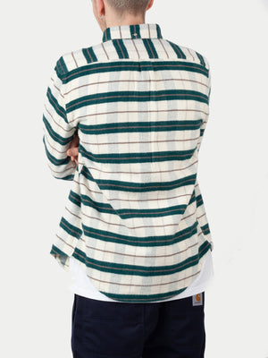 Portuguese Flannel Bravo Shirt (Green & White) m2