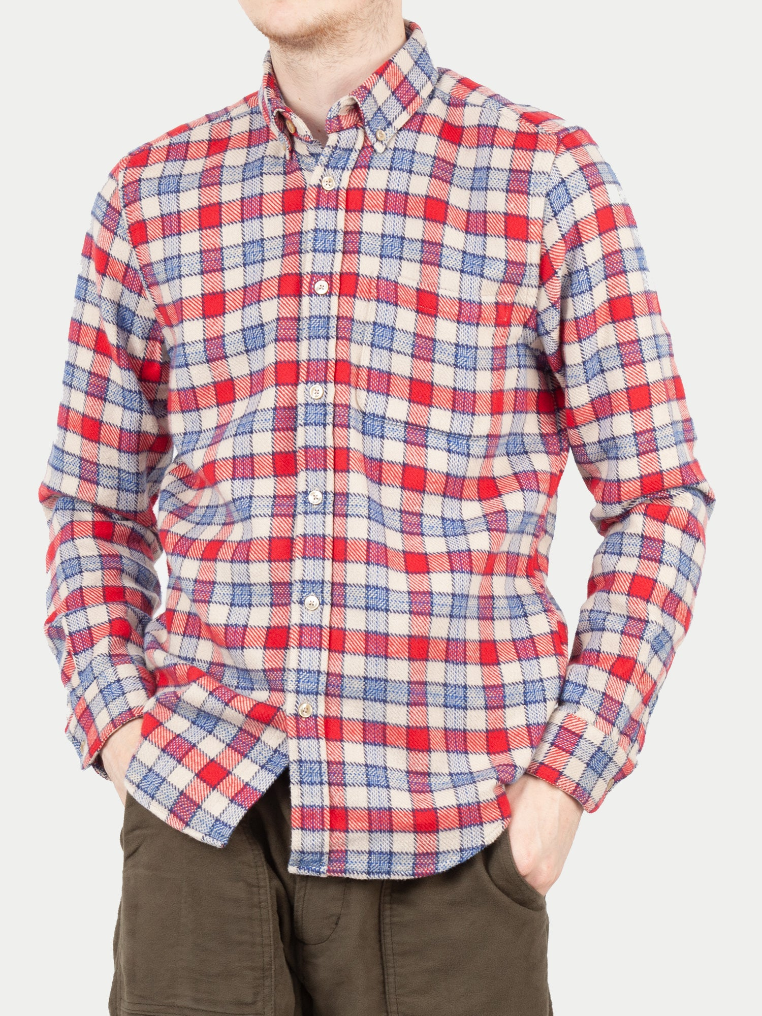 Portuguese Flannel NYC Shirt (Red) m1